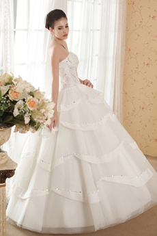 Heavy Handwork Ball Gown Wedding Dress For Plus Size