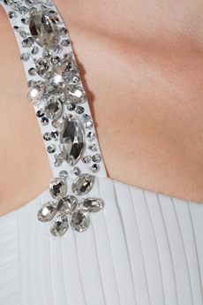 Glamour Straps Column Floor Length Ivory Chiffon Beach Wedding Dress