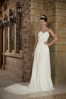 Casual A-line Full Length Destination Wedding Dress