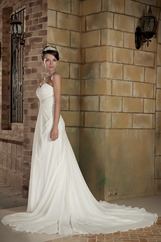 Casual A-line Full Length Destination Wedding Dress