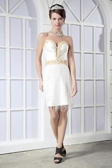 Mini Length Sweetheart Casual Beach Wedding Dress