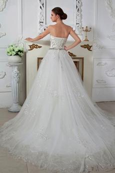Luxurious Strapless Princess Wedding Dress 2016