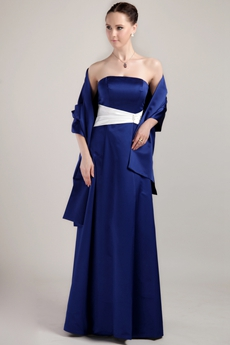 Column Floor Length Royal Blue Mother Of The Bride Dress