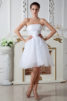 A-line Knee Length Organza Sweet Sixteen Dress