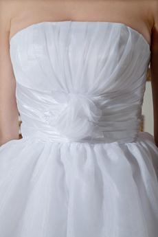 A-line Knee Length Organza Sweet Sixteen Dress