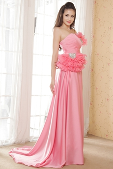 A-line Sweetheart Watermelon Plus Size Prom Dress