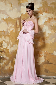Noble Sweetheart A-line Pink Formal Evening Dresses