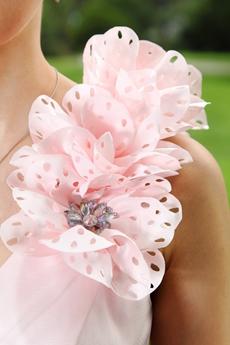 Cute One Shoulder A-line Mini Length Light Pink Damas Dress
