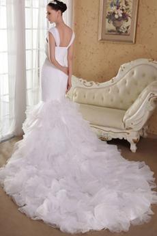 Vintage Straps Full Length Trumpet/Mermaid/Fishtail Wedding Gown