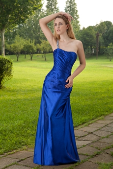 Modest Column Floor Length Royal Blue Mother Of the Groom Dress