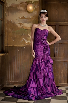 Exclusive Sweetheart Purple Mermaid Prom Dress