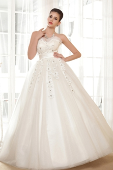 Sweetheart White Tulle Plus Size Wedding Dress Full Length