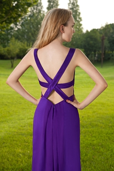 Crossed Straps Back A-line Informal Evening Dress