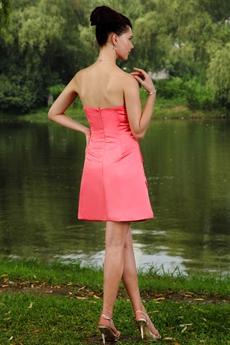 A-line Mini Length Watermelon Damas Dress