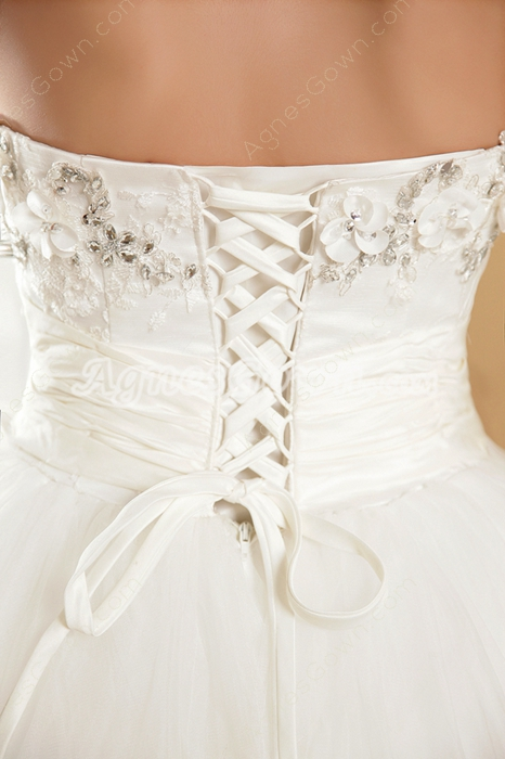 Gorgeous Ball Gown Cinderella Wedding Dress With Lace