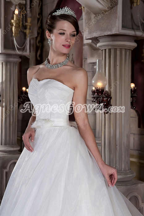 2016 Ball Gown Feather Wedding Dress