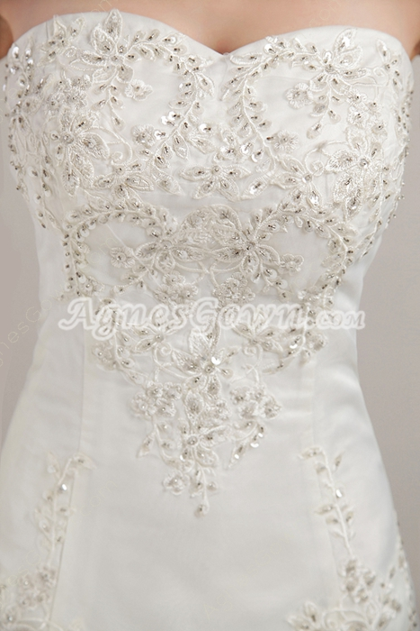 Luxurious Beaded A-line Lace Wedding Dress