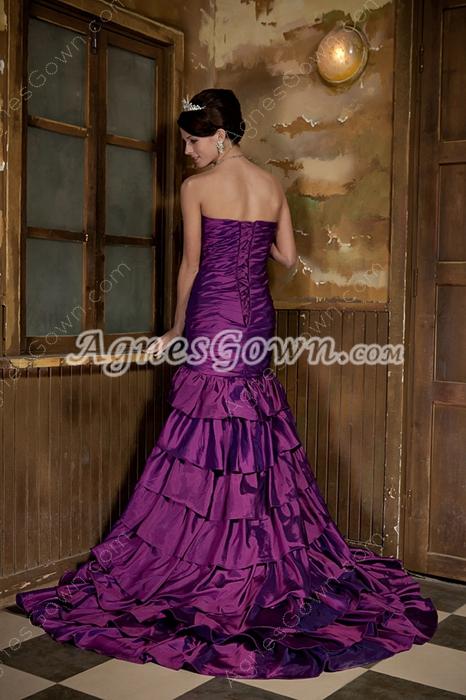 Exclusive Sweetheart Purple Mermaid Prom Dress