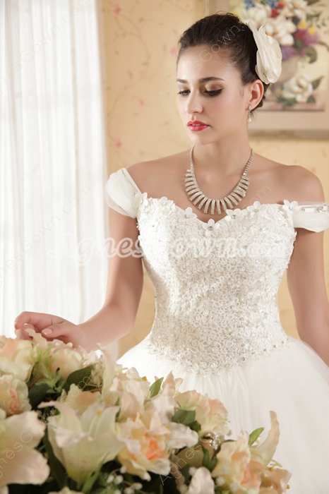 Beautiful Off The Shoulder Princess Wedding Dress