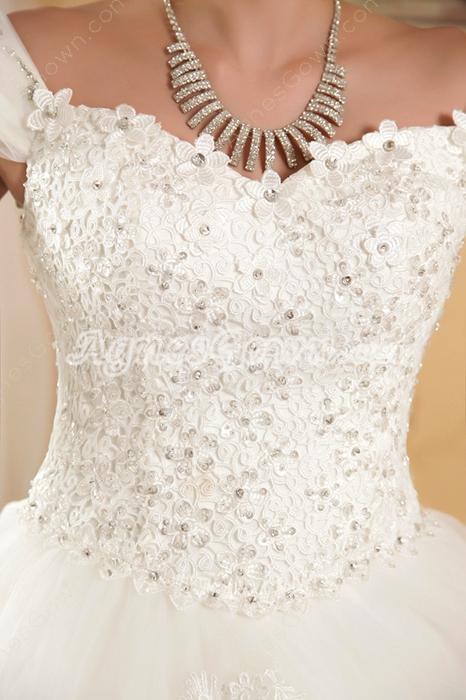 Beautiful Off The Shoulder Princess Wedding Dress