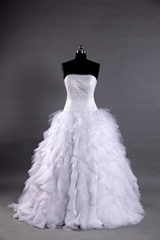 Luxury Ball Gown Wedding Dresses With Multi-Layered