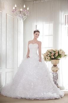 Gorgeous Multi Ruffled Ball Gown Cinderella Wedding Dress
