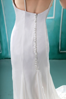 Scoop Back Cap Sleeves Chiffon Beach Wedding Gown