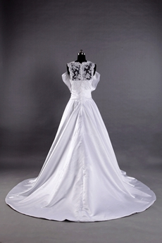 Illusion Neckline Plus Size Wedding Dress With Butterfly