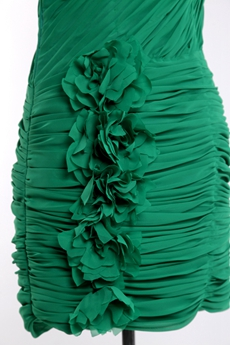 Sheath One Shoulder Hunter Green Bandage Dress
