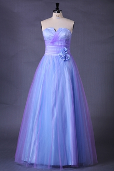 Cowl Neckline Lilac And Blue Princess Quinceanera Dress