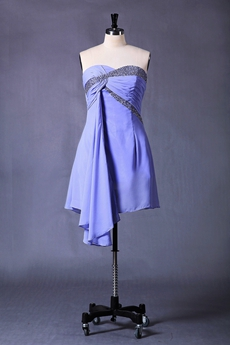 Lavender Chiffon Homecoming Dress Sweetheart Neckline