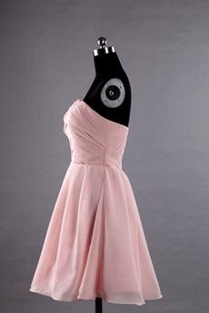 Short Length Dusty Rose Chiffon Homecoming Dress