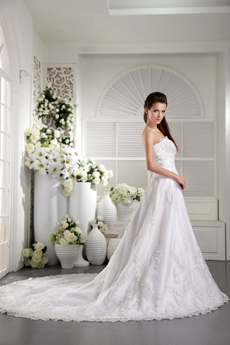 Breathtaking A-line Floor Length Lace Wedding Dress Button Back