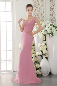 Graceful Sheath Full Length Dusty Rose Mother Of The Bride Dress