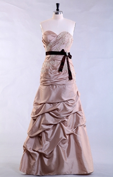 Magnificent Sheath Full Length Taffeta Material Prom Dress