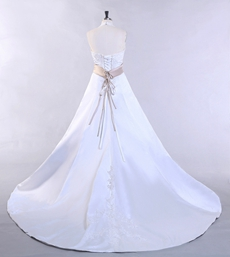 Desirable Halter A-line Full Length Plus Size Wedding Gown