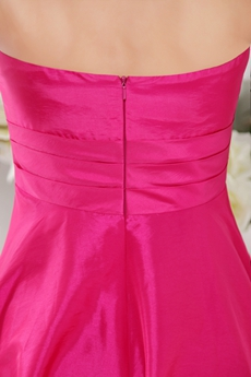 Knee Length Fuchsia Junior Bridesmaid Dress