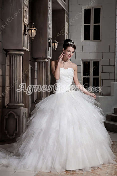 Breathtaking Sweetheart Couture Ball Gown Wedding Dress 2016