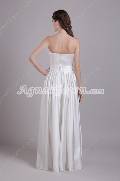 Straight/Column Full Length Casual Beach Wedding Gown