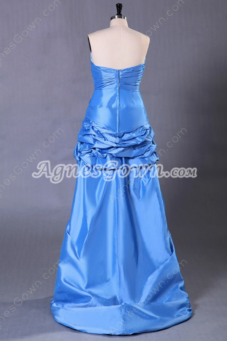 Chic Sweetheart High Low Prom Dress With Beaded Bust