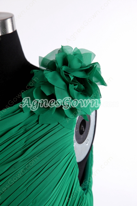 Sheath One Shoulder Hunter Green Bandage Dress