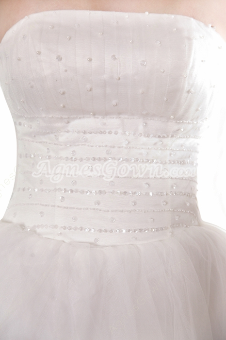 Adorable Ball Gown White Tulle Sweet Fifteen Dress