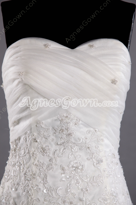 Glamour Sweetheart Fishtail/Mermaid Lace Wedding Dress