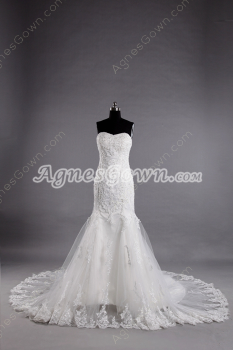 Vintage Lace Wedding Gowns Mermaid Style