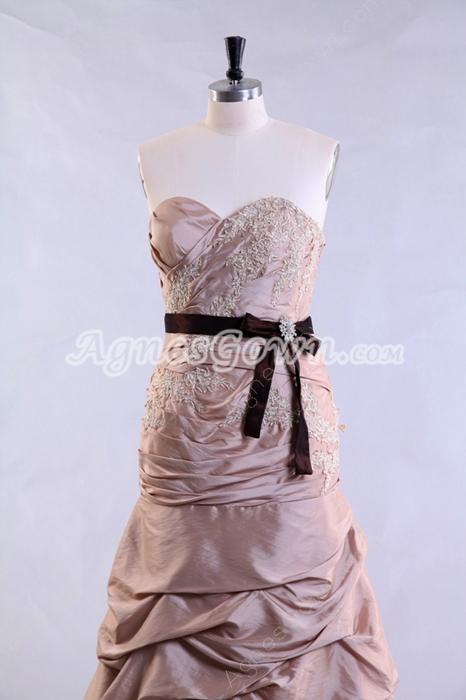 Magnificent Sheath Full Length Taffeta Material Prom Dress