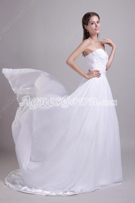Sweetheart A-line Chiffon Wedding Dress For Plus Size Women