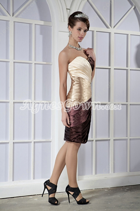 Modern Column Mini Length Colorful Mother Of The Bride Dress