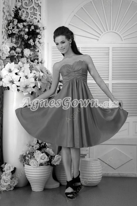 Knee Length Fuchsia Junior Bridesmaid Dress