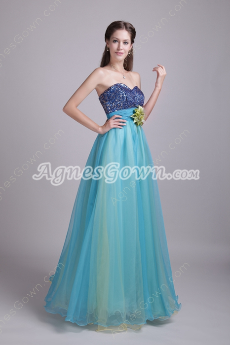 Pretty Sweetheart Colorful Princess Quinceanera Dress
