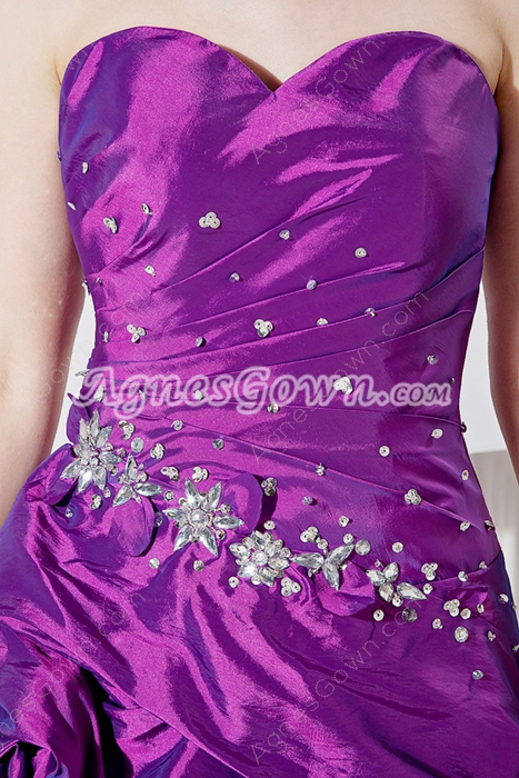 Sweetheart High Low Quinceanera Dress With Detachable Train
